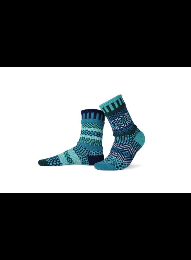 Evergreen Adult Crew Socks