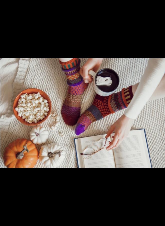 Fall Foliage Adult Crew Socks