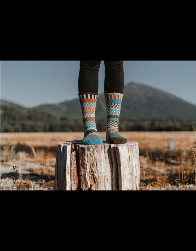 Walnut Adult Wool Crew Socks