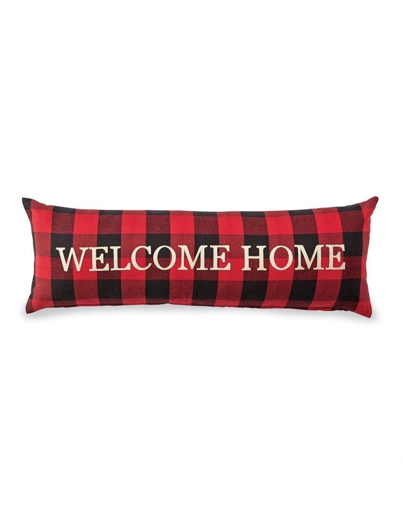 Welcome Home Buffalo Check Pillow
