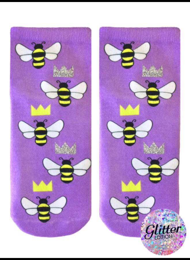 Ankle Socks  Glitter Queen Bee