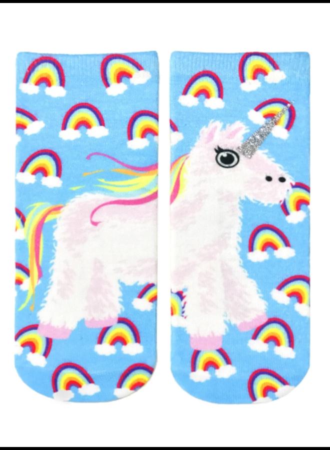 Ankle Socks  Glitter Unicorn Pinata