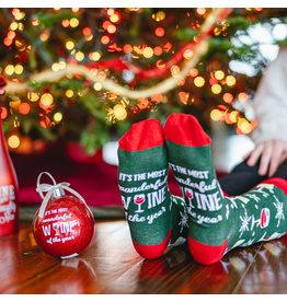 Wonderful Wine  Ornament with Socks