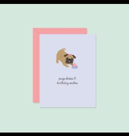 Pug Kisses Card