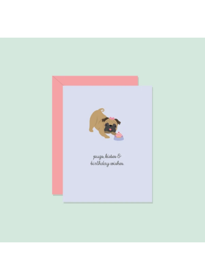 Pug Kisses Card