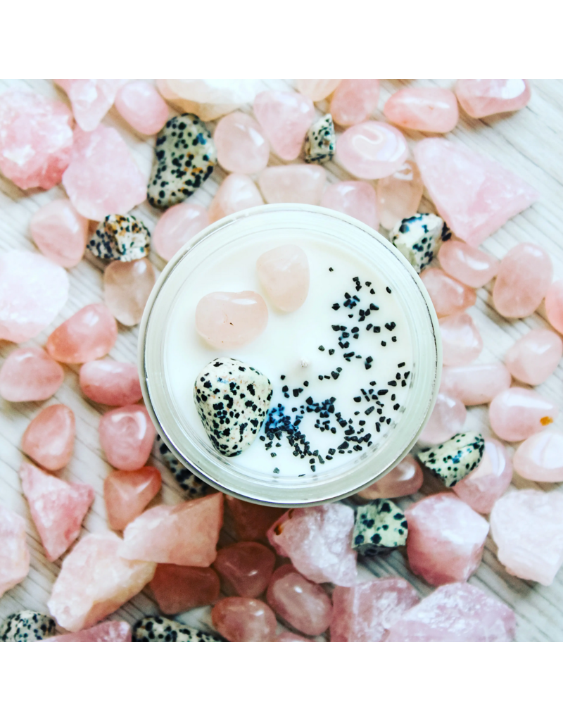 Positivity Crystal Charge Candle