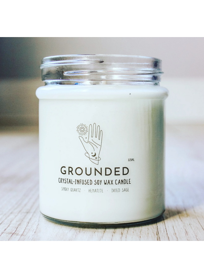 Grounded Crystal Charge Candle