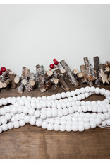 8.5' White Wooded Bead Garland