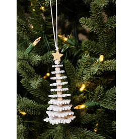 White Snowflake Tree Ornament