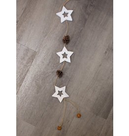 White Star Garland with Bells