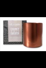 Chunky Knit Sweater Metallic XL Copper