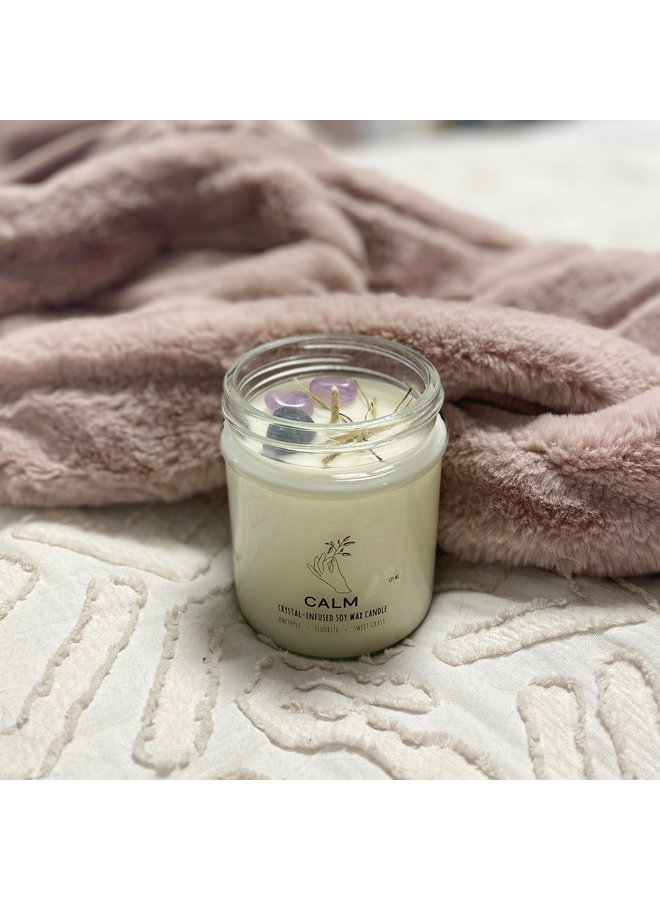 Calm Crystal Charge Candle