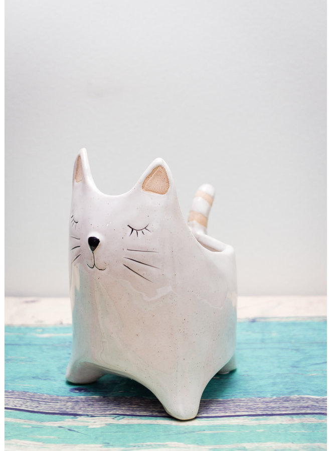Large Here Kitty Pot