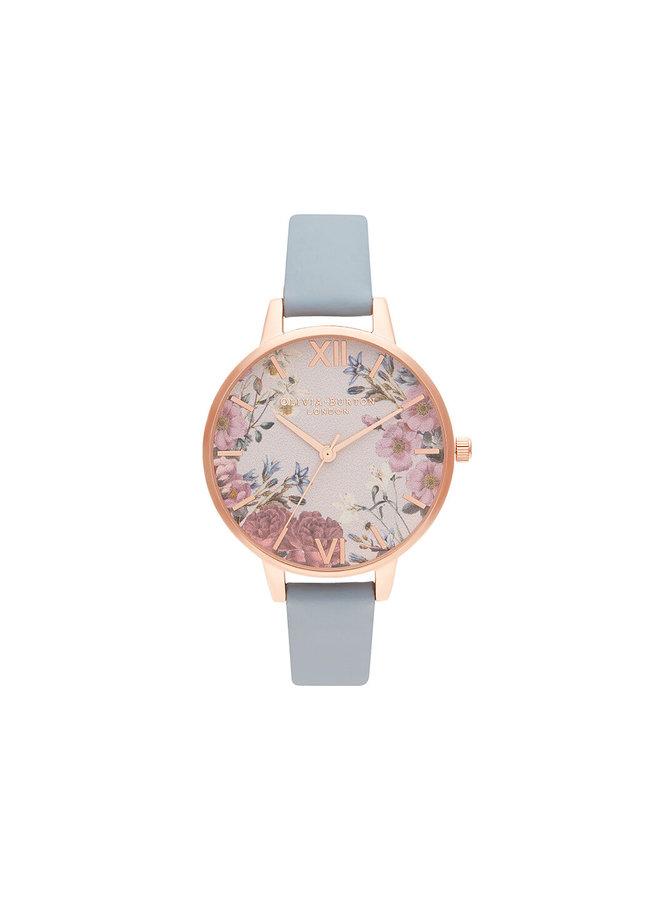 British Blooms Chalk Blue & Rose Gold Watch