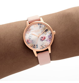 Enchanted Garden Dusty Pink & Rose Gold Watch