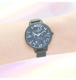 Celestial Matte Black Boucle Watch