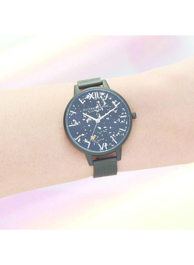 Celestial Matte Black Bouclé Watch