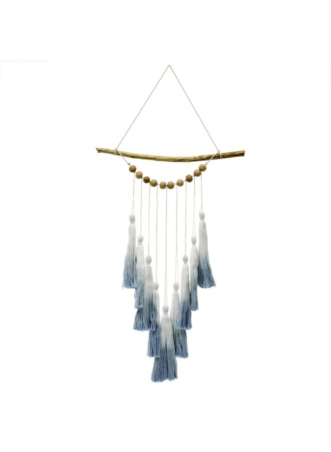 Blue Ombre Tassel Wall Hanging