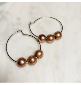 The Bronzed Pearl Hoops