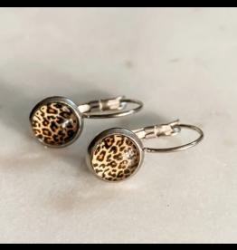 Leopard Print Drop-Earrings