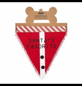 Santa's Favorite Christmas Dog Bandana