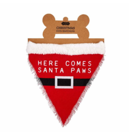 Here Comes Santa Paws Christmas Dog Bandana