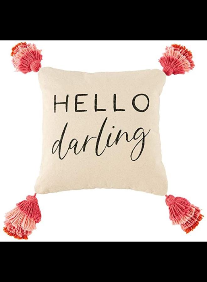 Hello Darling Tassel Pillow