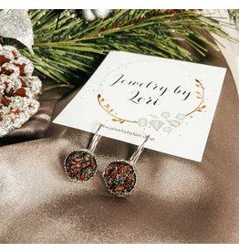 Christmas Druzy Earrings