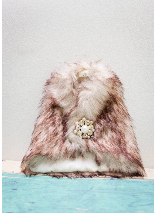 Faux Fur Cape Bottle Cover