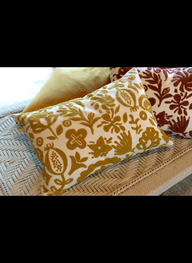 16x24 New Guinea Pillow, Ochre