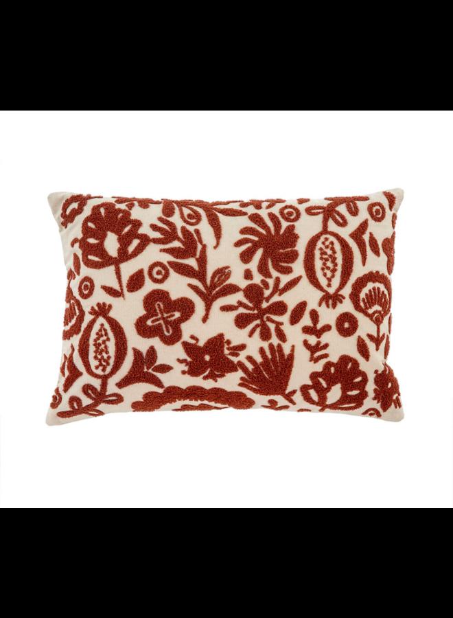 16x24 New Guinea Pillow, Rust