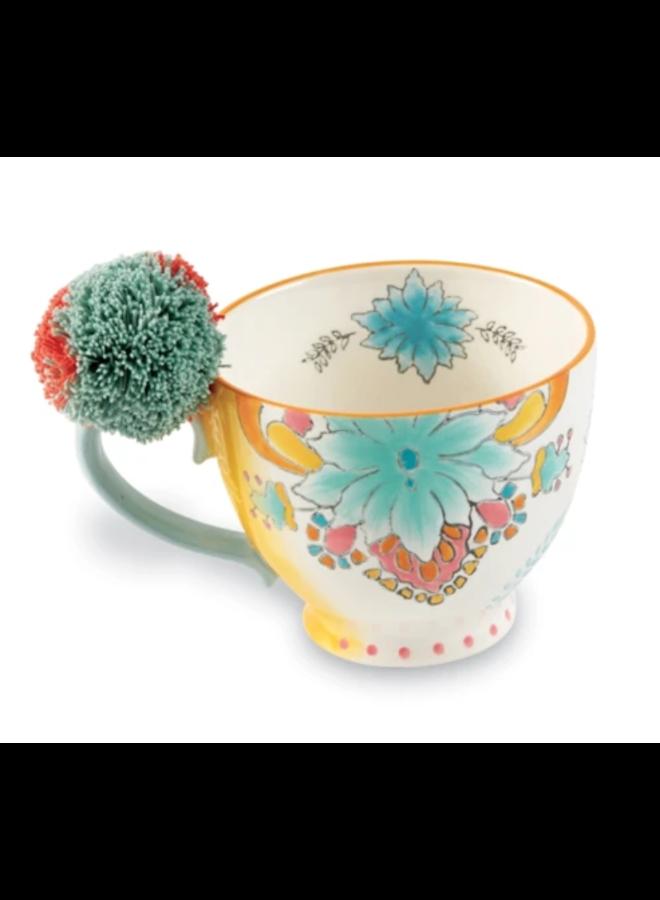 Blue Flower Eclectic Mug