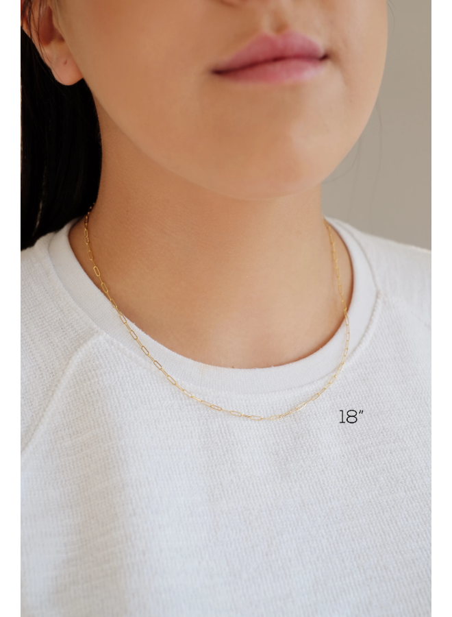 "18""  Gold Filled Connection Necklace"