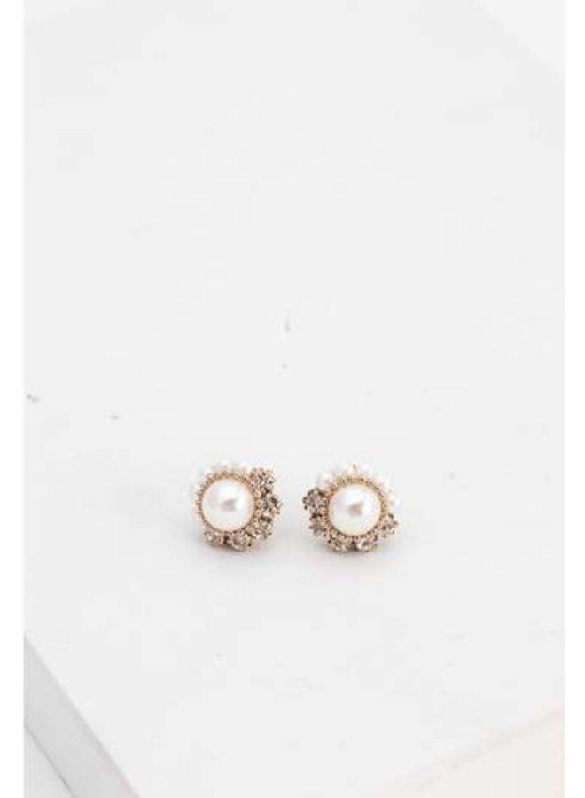 Empress Pearl Post Earrings Pearl