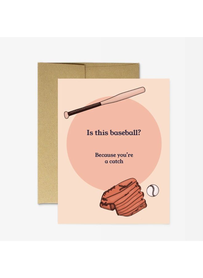 Baseball Catch Card