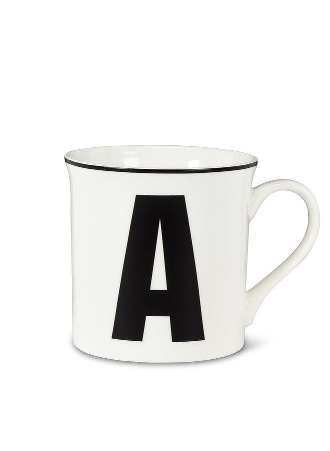Graphic Letter A Mug