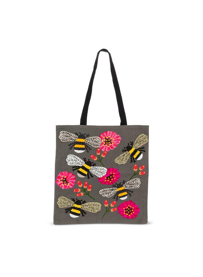 Bee & Blooms Tote Bag