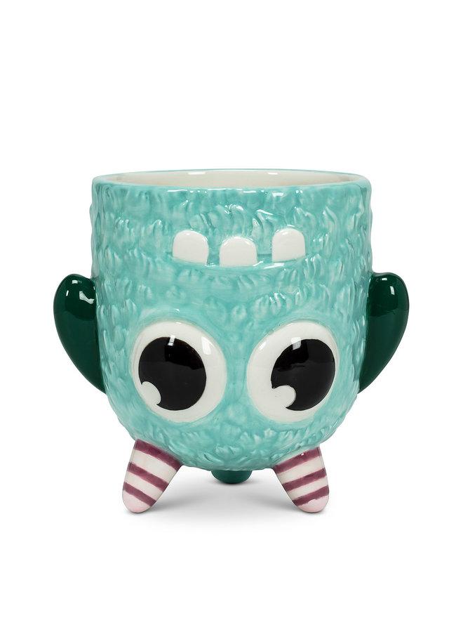 Blue Upside Down Monster Mug