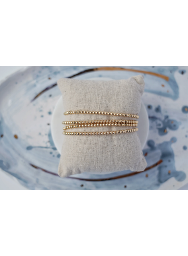 3mm Gold Filled Ball Bracelet