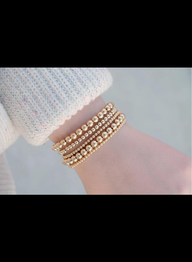 4mm Gold Filled Ball Stretch Bracelet