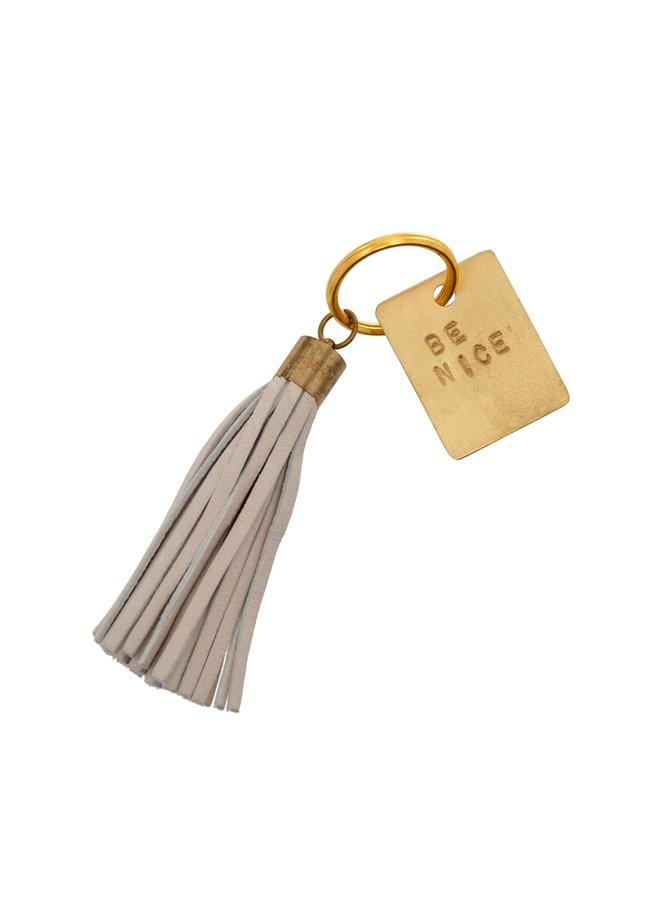 Be Nice Leather Keychain