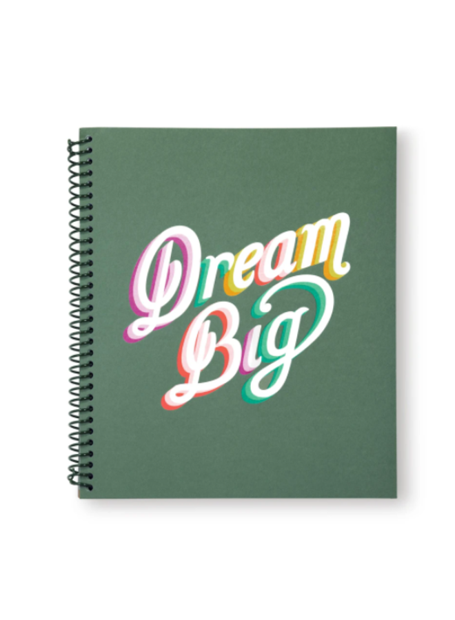 Dream Big Large Spiral Notebook