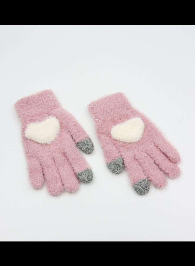 Cozy Heart Gloves