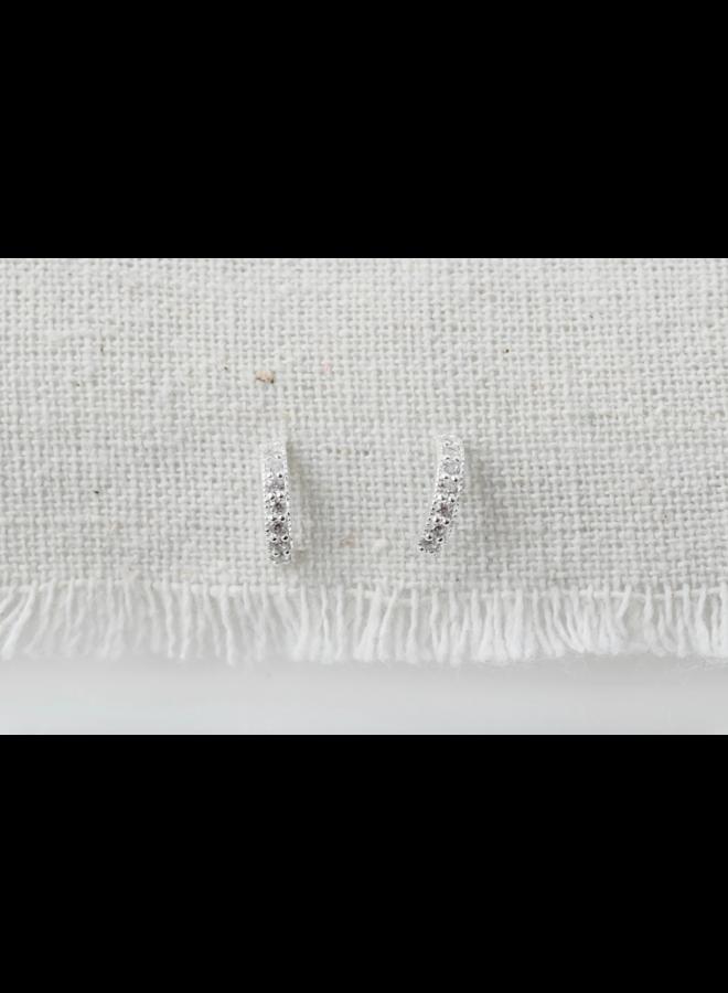 Crystal Half Hoop Earrings