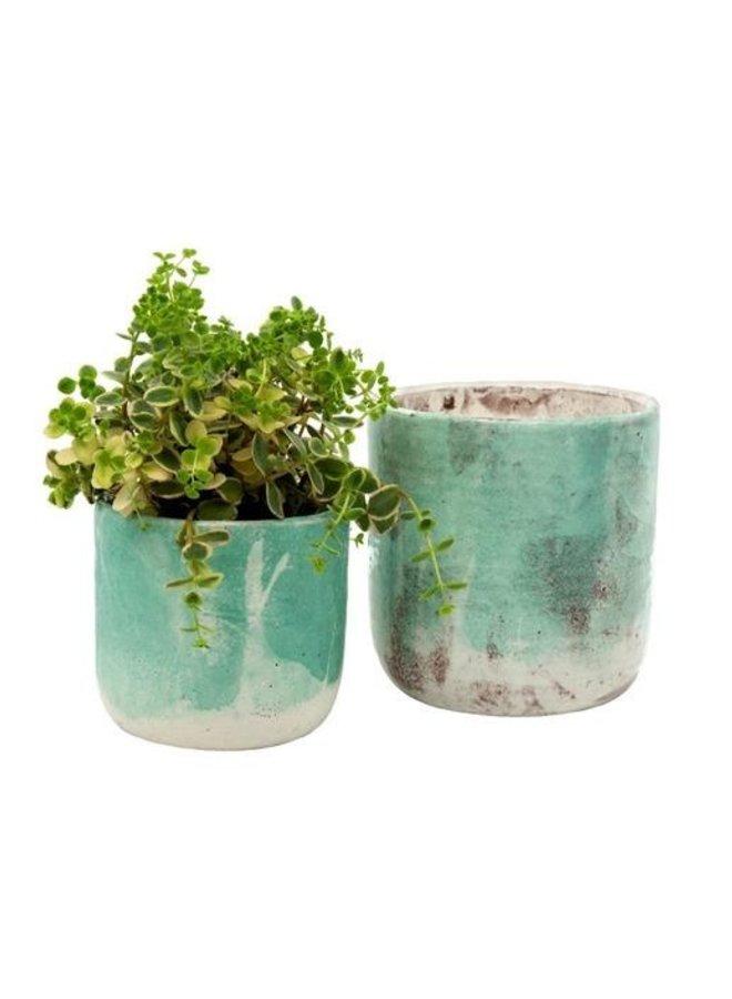 Aqua Palette Pot