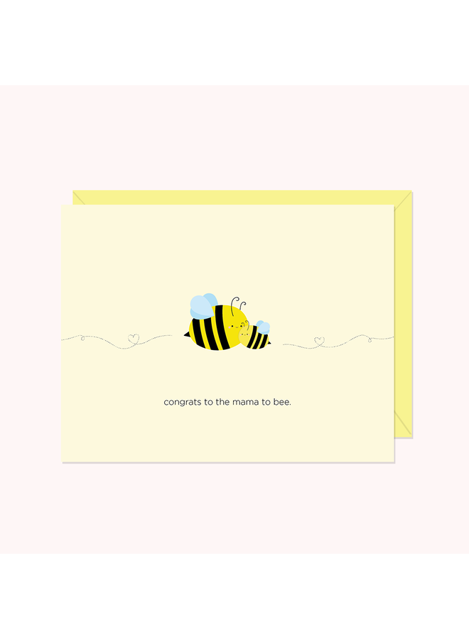 Congrats To The Mama To Bee Card