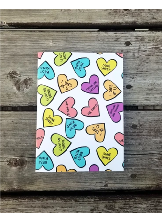 Candy Hearts Notebook