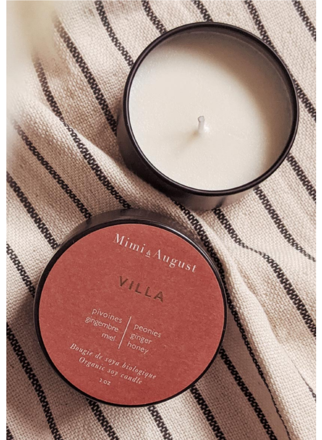 2oz Organic Soy Mini Candle - Villa