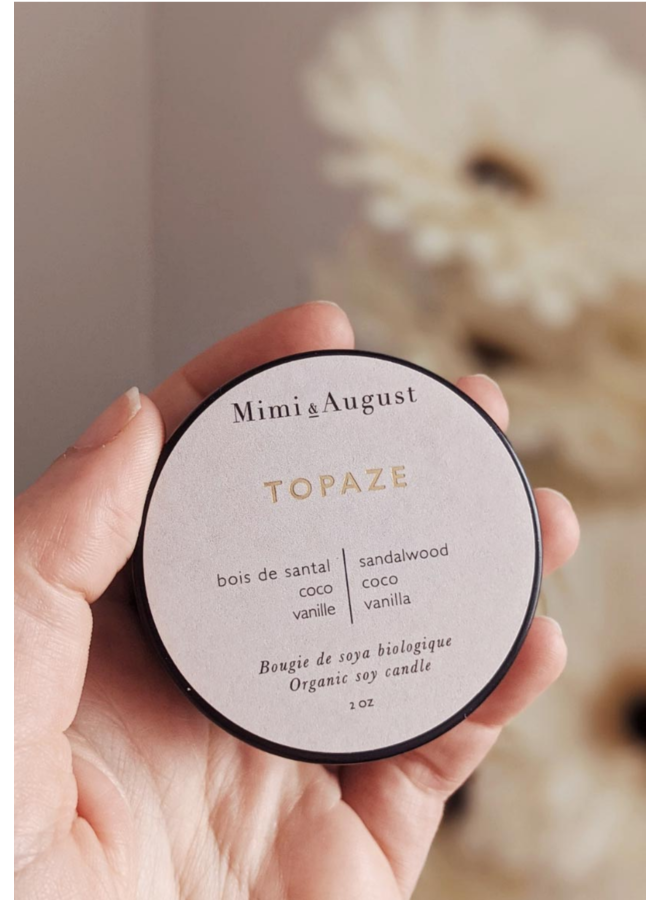 2oz Organic Soy Mini Candle - Topaze