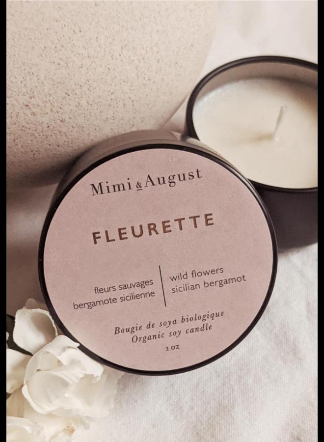 2oz Organic Soy Mini Candle - Fleurette